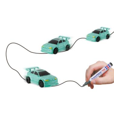 GOLD LIGHT Magic Mini Racer Car Follow Black Drawn Line Toy Car