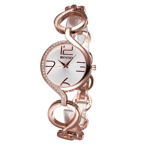 Buy WEIQIN Brand Luxury Gold Watches Women Fashion Hollow Bracelet Watch Quartz Wristwatches