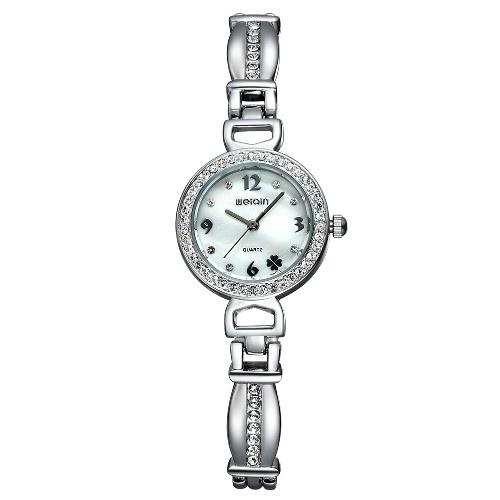 Buy WEIQIN New Fashion Rose Gold Watch Luxury Brand Women Dress Watches Steel Rhinestone Quartz Wristwatches