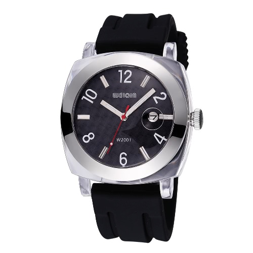 Buy WEIQIN Auto Date Man Brand Watches Shock Waterproof Silicone Strap Military Outdoor Casual Quartz Watch