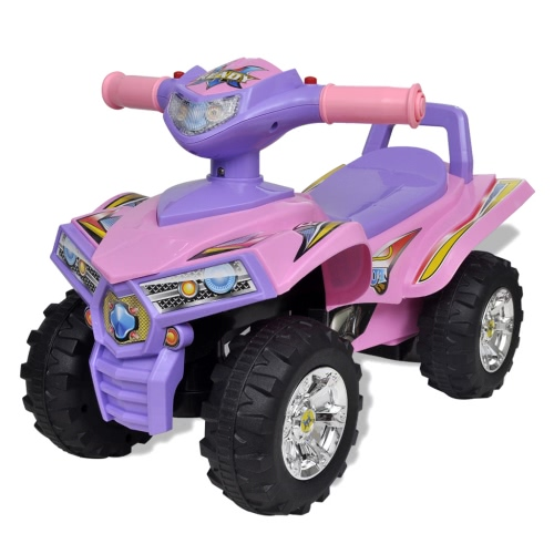 Pink-purple Children's Ride-on Quad with Sound and Light от Tomtop.com INT