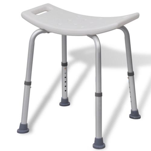 vidaXL Shower Stool Aluminium White от Tomtop.com INT