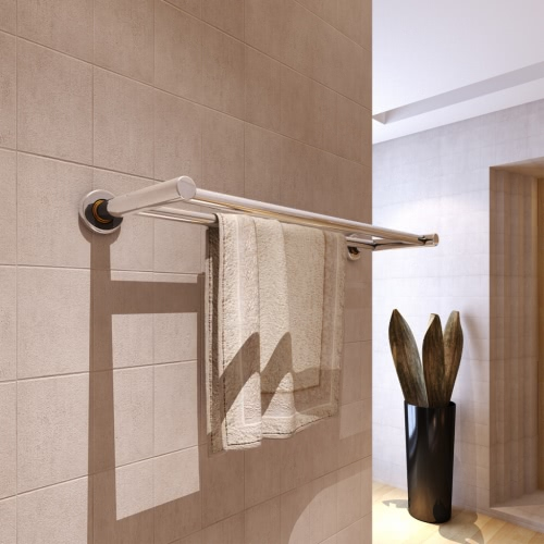 Stainless Steel Towel Rack 2 Tubes от Tomtop.com INT
