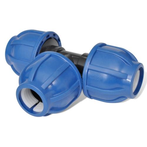 PE Hose Connector Equal Tee 16 Bar 25mm 4pcs