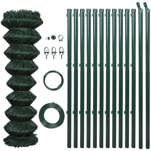 "Chain fence 2' 7"" x 49' 2"" Green with Posts & All Hardware от Tomtop.com INT"
