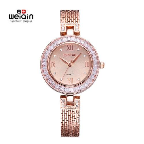 Buy WEIQIN Luxury Brand Fashion Casual Watch Women Rhinestone Watches Girl Dress Quartz Wristwatch