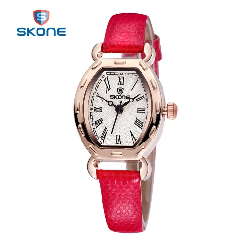 Buy SKONE PU Leather Strap Watches Women Analog Quartz Mvmt Watch Woman Fashion Casual Ladies