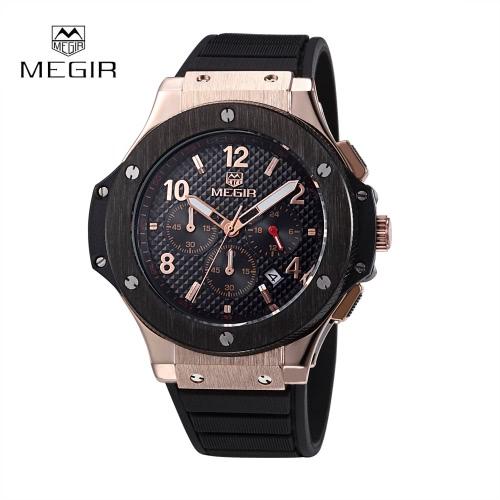 MEGIR Fashion Brand Army Watches Silicone Military Quartz Men Sport Watch Waterproof 24 Hours Calendar Wristwatch от Tomtop.com INT