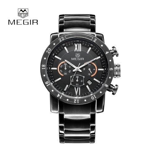 MEGIR Top luxury Brand Men Business Watch Military Auto Date Watches Stainless Steel Water Resistance Wristwatches от Tomtop.com INT