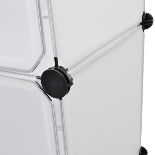 Scarpiera Armadio 9 cassetti bianco