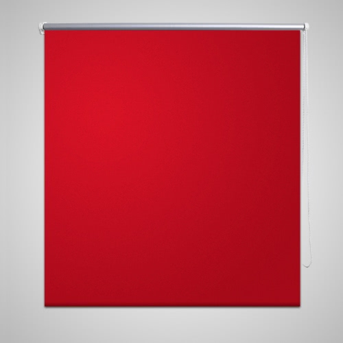 Buy Roller Blind Blackout 40 x 100 cm Red