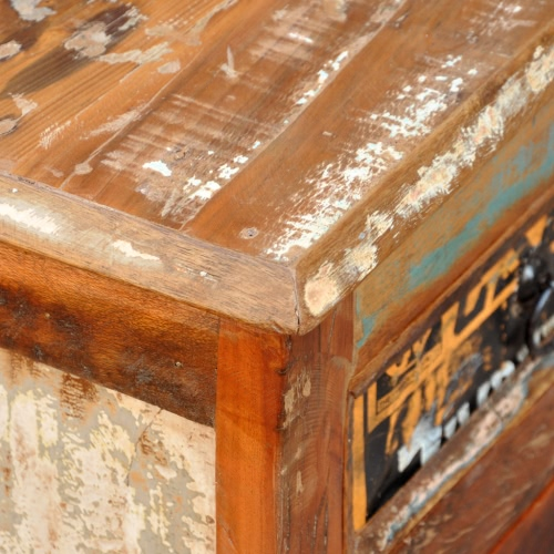 Antique Vintage in legno massiccio cassettone credenza armadio 3 ante