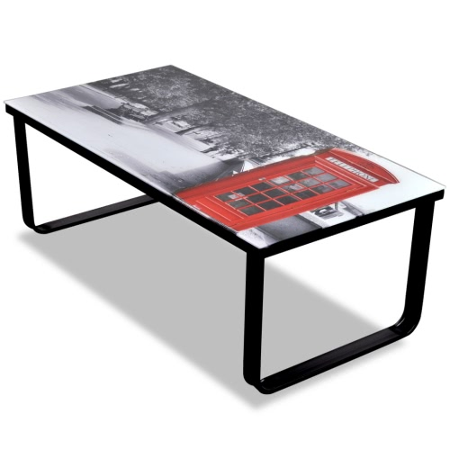 Buy Glass Coffee Table Telephone Booth Printing