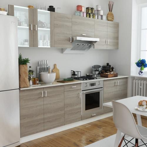 Oak Look Kitchen Cabinet Unit 8 pcs от Tomtop.com INT