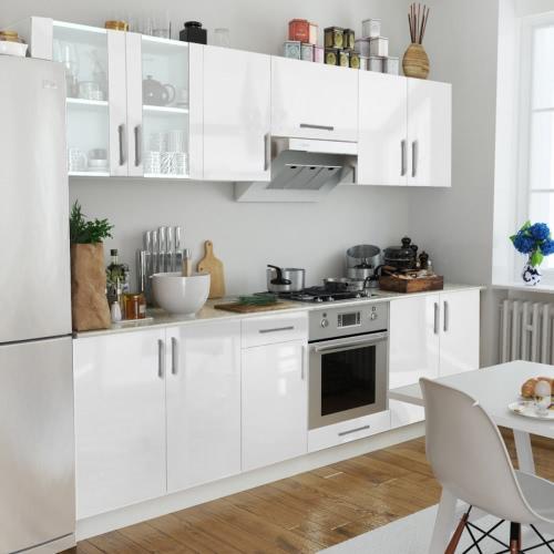8 pcs High Gloss White Kitchen Cabinet Unit 260 cm от Tomtop.com INT
