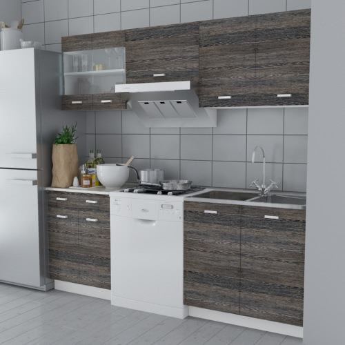 Wenge Look Kitchen Cabinet Unit 5 pcs от Tomtop.com INT
