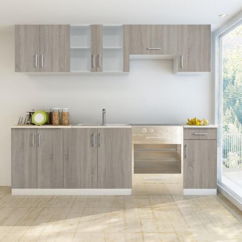 Oak Look Kitchen Cabinet Unit 7 pcs от Tomtop.com INT
