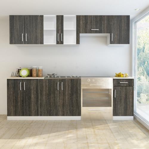 Wenge Look Kitchen Cabinet Unit 7 pcs от Tomtop.com INT