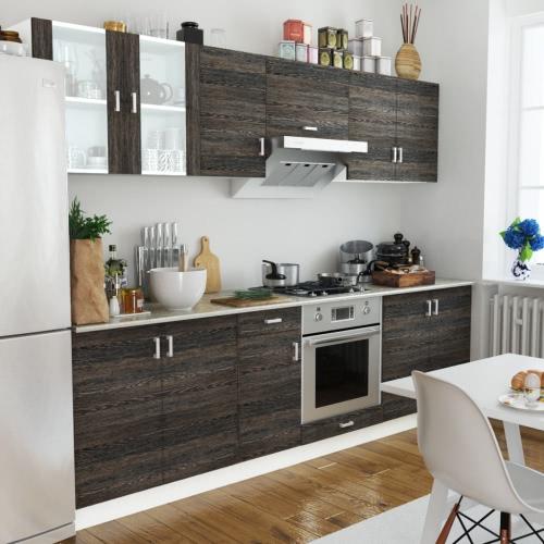 Wenge Look Kitchen Cabinet Unit 8 pcs от Tomtop.com INT