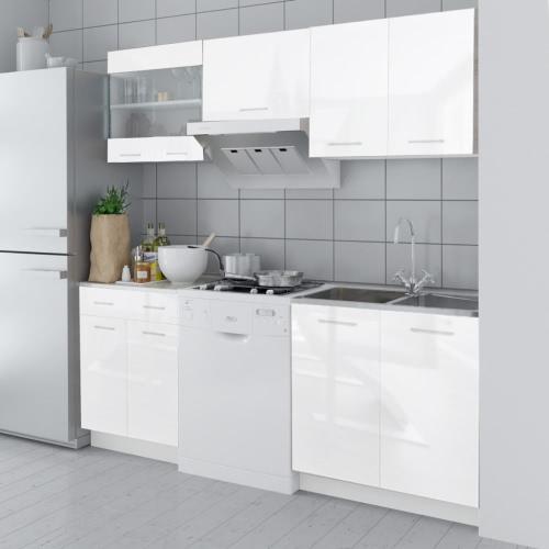 5 pcs High Gloss White Kitchen Cabinet Unit 200 cm от Tomtop.com INT