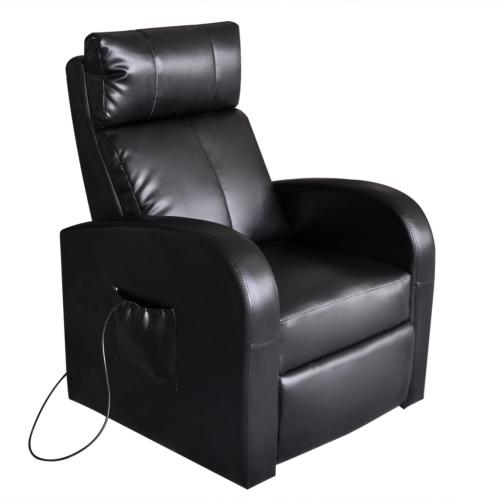 Chaise de massage lectrique en cuir artificiel - Chaise massage electrique ...