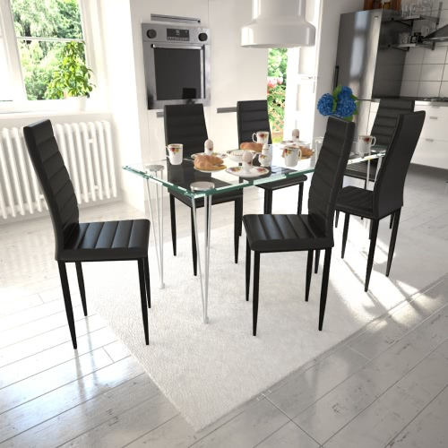 6 pcs Black Slim Line Dining Chair от Tomtop.com INT