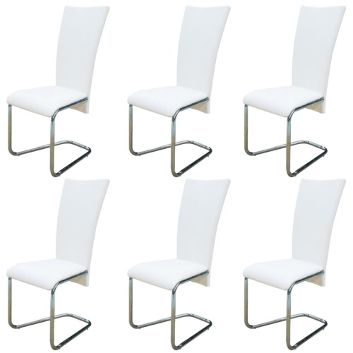 6 pcs Artificial Leather Iron White Dining Chair от Tomtop.com INT