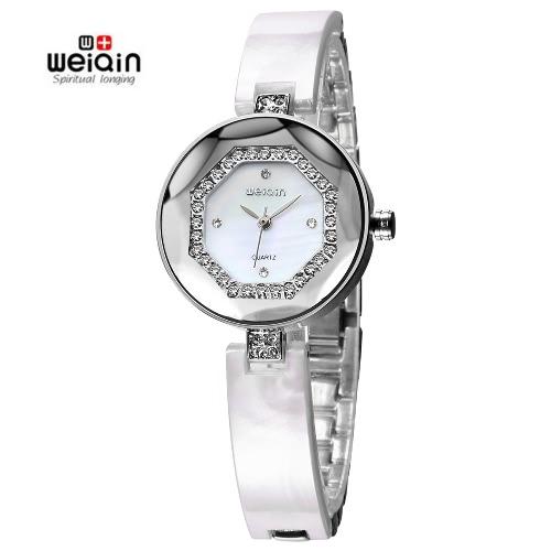Buy WEIQIN Elegant Watch Women Fashion Rhinestone Ladies Watches Analog Quartz Luxury Brand Wristwatch Clock