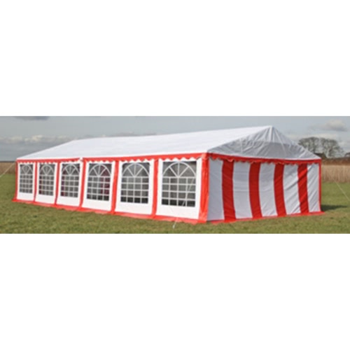 Buy Party Tent Top Side Panels 12 x 6 m Red & White
