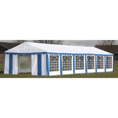 Buy Party Tent Top Side Panels 12 x 6 m Blue & White