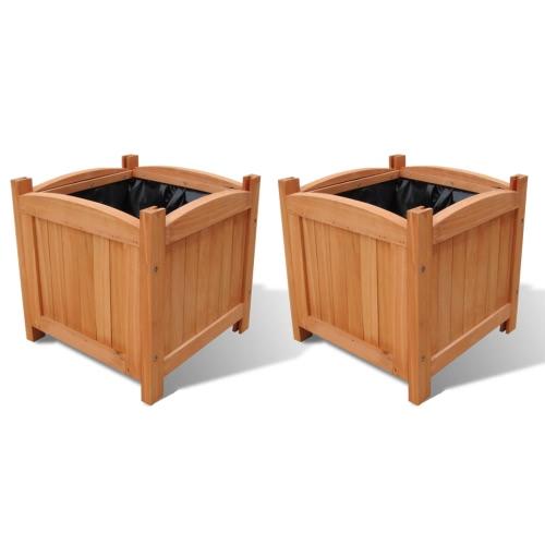 Buy Wooden Planter 30 x cm Set 2