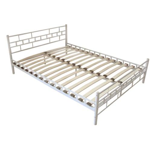 Buy Metal Bed 140 x 200 cm White Block