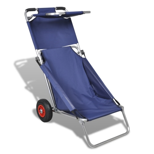 Buy 3 blue 1 trolley beach wagon chair table