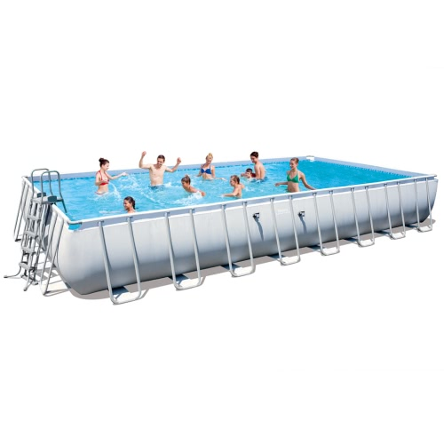 Bestway Power Steel Rectangular Swimming Pool Set 956x488x132cm 56479 от Tomtop.com INT