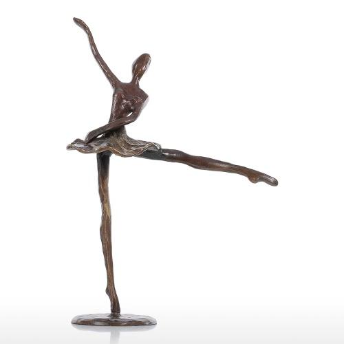 Балет 2 Бронзовая скульптура Металлическая скульптура Современный танец Домашнее украшение Художественный подарок