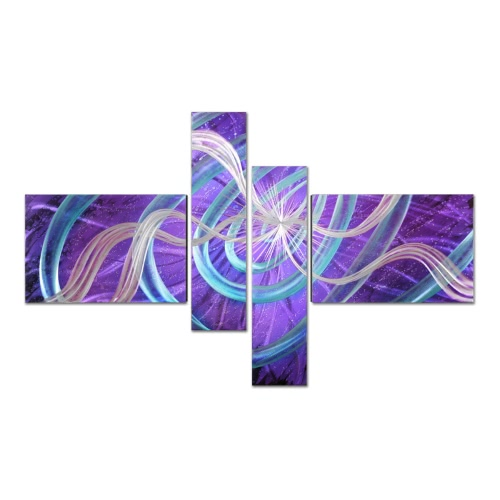 Tooarts Stars Modern Painting Wall Art Домашнее украшение Подарок 4 панели Multicolor