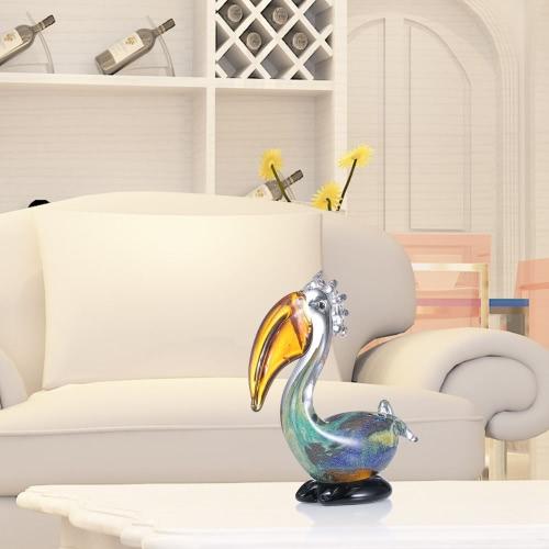 Big Mouth Bird Tooarts Glass Sculpture Home Decoration Glass Bird