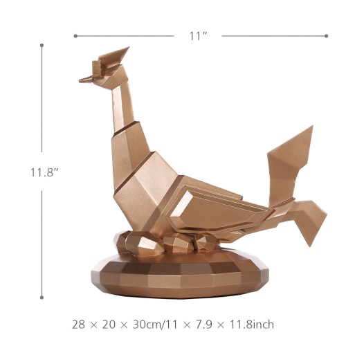Tomfeel Glasses Chicken Resin Sculpture Home Decor Modern Art Figurine Animal Statue Fiberglass
