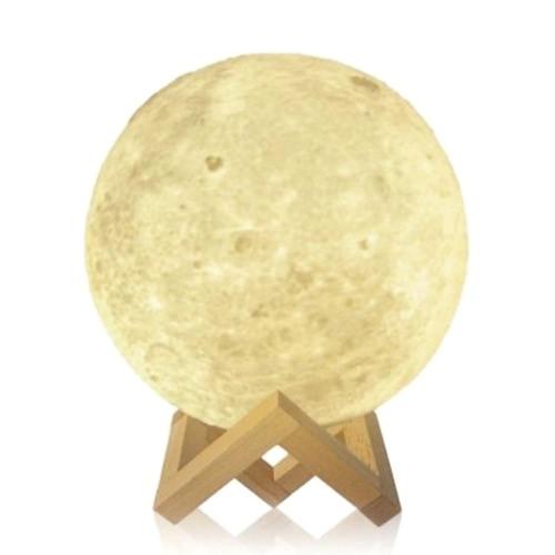 Buy Moon Lamp Tooarts 3D Printed Modern Sculpture Home Decoration Ornament Artwork Art Lunar Decor Gift US Plug 100-240V 50/60Hz