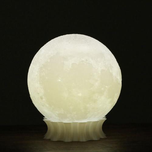 Buy Tooarts 3D Printed Moon Lamp Printing Modern Sculpture Home Decoration Ornament Artwork Art Lunar Decor Lighting Gift US Plug 100-240V 50/60Hz