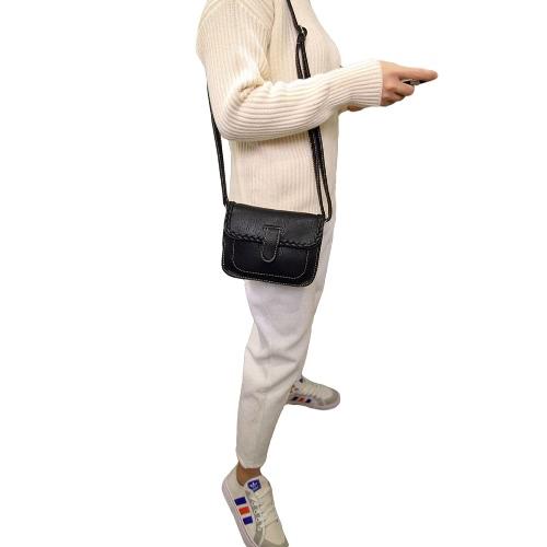 Buy Fashion Women Crossbody Bags Soft PU Solid Color Braid Elegant Casual Small Mini Shoulder Messenger Bag Handbag