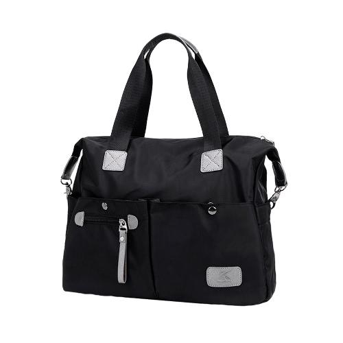 Buy Fashion Women Handbag Nylon Oxford Large Capacity Multi Pockets Casual Shoulder Crossbody Bag Tote Purple/Black/Blue