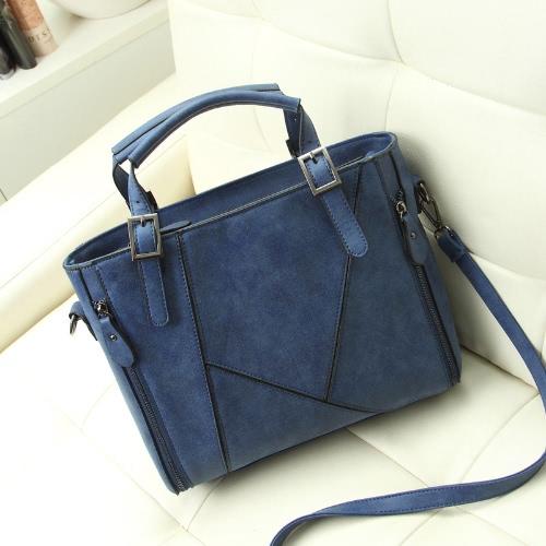 Buy Fashion Women Vintage Handbag PU Leather Large Capacity Shoulder Bag Totes
