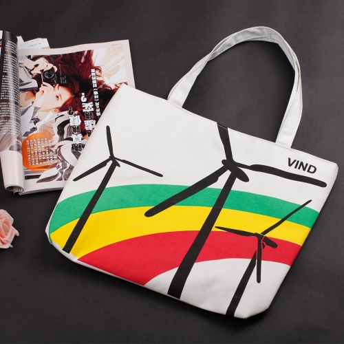 New Fashion Women Handbag Cute Print Color Blocking Shoulder Bag Tote Bag
