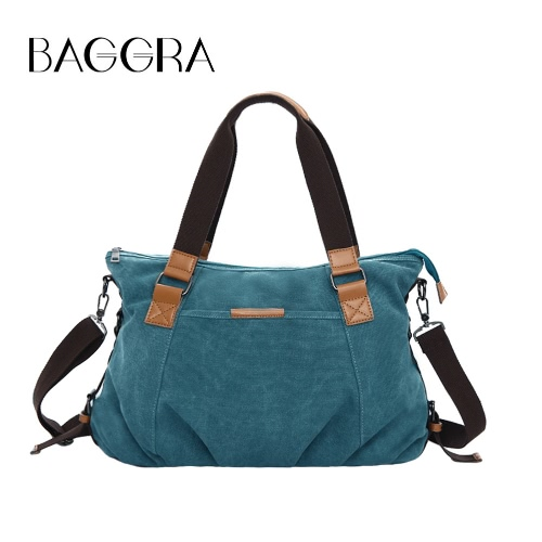 Buy Fashion Women Canvas Handbag Large Capacity Casual Shoulder Crossbody Bag Shopping Tote