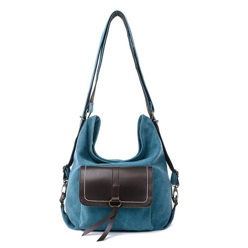 Buy Fashion Women Canvas Tote Handbag Large Capacity Casual Shoulder Bag Solid Messenger