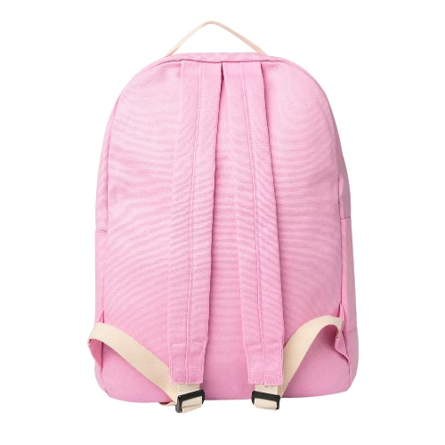 Women Canvas Backpack Set School Bag Print Candy Color Preppy Style Girl Rucksack Laptop Travel Bag