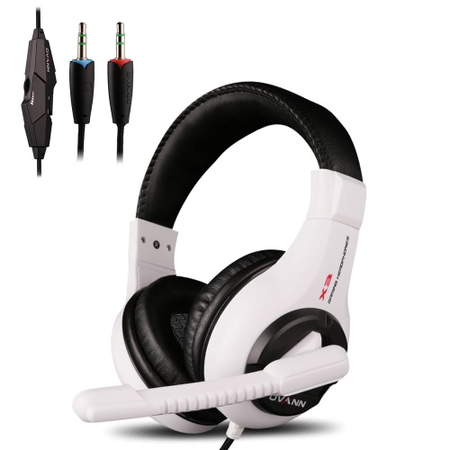 Ovann X3 Professional Esport Gaming Stereo Bass Headset Headphone Earphone Over Ear 3.5mm Wired with Microphone for PC Computer Laptop