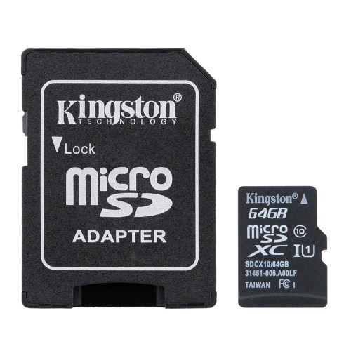 Kingston Class 10 8GB 16GB 32GB 64GB MicroSD TF Flash Memory Card 48MB/s with Card Adapter от Tomtop.com INT