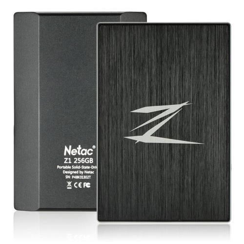 Netac Z1 256GB Portable SSD External Solid State Drive SuperSpeed USB 3.0 ?Cache 256MB